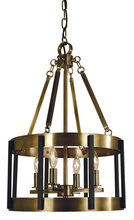 Framburg 4664 PN/MBLACK - 4-Light Polished Nickel/Matte Black Pantheon Pendant