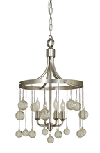 Framburg 4764 MB - 4-Light Mahogany Bronze Falling Stars Chandelier