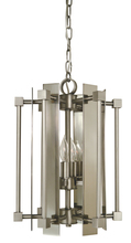 Framburg 4804 AB/MBLACK - 4-Light Antique Brass/Matte Black Louvre Chandelier