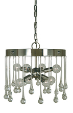 Framburg 4844 PN - 8-Light Polished Nickel Waterfall Chandelier