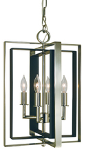Framburg 4860 BN/MBLACK - 4-Light Brushed Nickel/Matte Black Symmetry Mini Chandelier