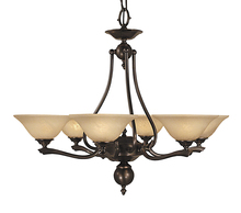 Framburg 7996 PB - 6-Light Polished Brass Fin De Siecle Dining Chandelier