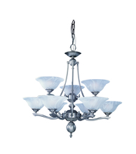 Framburg 7999 PB - 9-Light Polished Brass Fin De Siecle Dining Chandelier