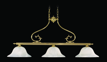 Framburg 8003 PB - 3-Light Polished Brass Fin De Siecle Island Chandelier