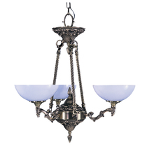 Framburg 8403 FB - 3-Light French Brass Napoleonic Dinette Chandelier