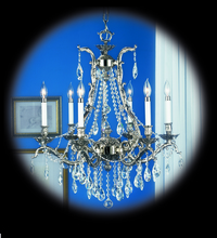 Framburg 8426 FB - 6-Light French Brass Czarina Dining Chandelier