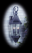 Framburg 8744 BN - 5-Light Brushed Nickel Normandy Exterior Wall Mount