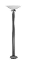 Framburg 8825 SP/PN - 1-Light Satin Pewter/Polished Nickel Solstice Portable Floor Lamp