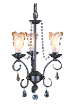 Framburg 9723 MB - 3-Light Mahogany Bronze Liebestraum Mini Chandelier