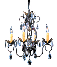Framburg 9904 MB - 4-Light Mahogany Bronze Liebestraum Mini Chandelier