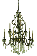 Framburg 9959 AB - 9-Light Antique Brass Czarina Dining Chandelier