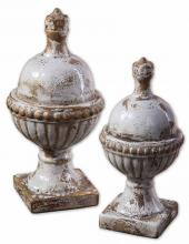 Uttermost 19231 - Uttermost Sini Ceramic Finials, Set/2