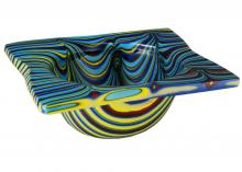 "Meyda Tiffany 113016 - 15""W Metro Fusion Tropical Glass Bowl"