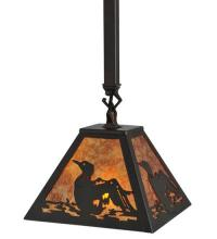 "Meyda Tiffany 116073 - 7.75""Sq Loon Mini Pendant"