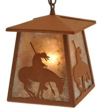 "Meyda Tiffany 129681 - 7""Sq Trail's End Lantern Pendant"