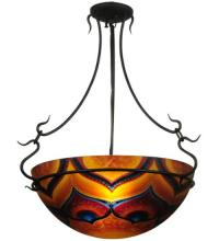 "Meyda Tiffany 132291 - 22""W Hand Painted Customer Supplied Semi-Flushmount"