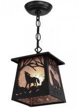 "Meyda Tiffany 150873 - 7""Sq Wolf at Dawn Mini Pendant"