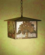"Meyda Tiffany 32247 - 12""Sq Oak Tree Lantern Pendant"