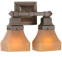 "Meyda Tiffany 50361 - 13""W Bungalow Frosted Amber 2 Lt Wall Sconce"